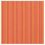 [ Thumbnail: Crimson and Dark Orange Lines/Stripes Pattern Fabric ]