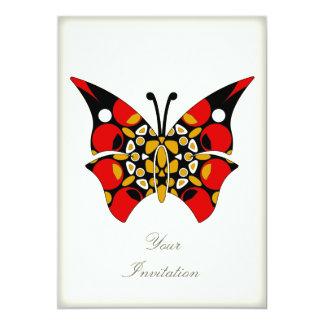Crimson and Gold Butterflies Card