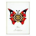 Crimson and Gold Butterflies Custom Announcement