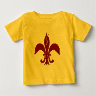 Crimson and Gold Fleur-de-lis - Infant Cr Shirt