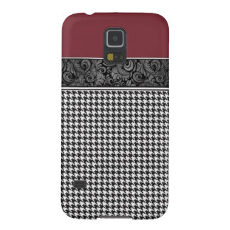 Crimson and Houndstooth Cases For Galaxy S5