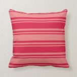 [ Thumbnail: Crimson and Light Coral Colored Lines Throw Pillow ]