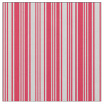 [ Thumbnail: Crimson and Light Grey Lines/Stripes Pattern Fabric ]