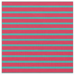 [ Thumbnail: Crimson and Light Sea Green Colored Lines Fabric ]