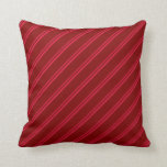 [ Thumbnail: Crimson and Maroon Colored Lined Pattern Pillow ]