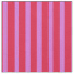 [ Thumbnail: Crimson and Orchid Lines Fabric ]