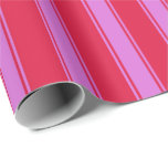 [ Thumbnail: Crimson and Orchid Lines Wrapping Paper ]