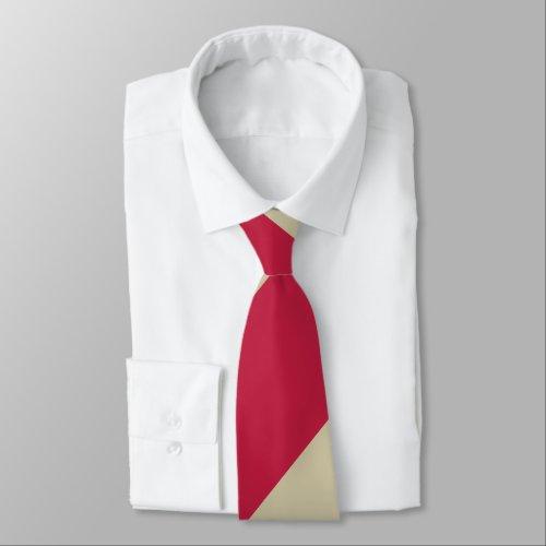 Crimson and Pale Gold Broad Regimental Stripe Tie