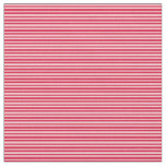 [ Thumbnail: Crimson and Pink Colored Stripes/Lines Pattern Fabric ]