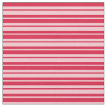 [ Thumbnail: Crimson and Pink Lines/Stripes Pattern Fabric ]