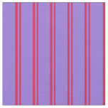 [ Thumbnail: Crimson and Purple Colored Stripes Fabric ]