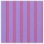 [ Thumbnail: Crimson and Purple Colored Stripes Fabric ]