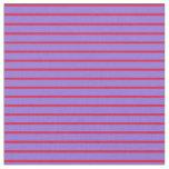 [ Thumbnail: Crimson and Purple Pattern of Stripes Fabric ]