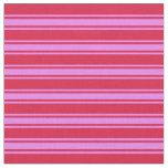 [ Thumbnail: Crimson and Violet Colored Lined Pattern Fabric ]