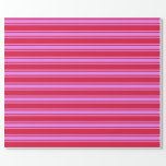 [ Thumbnail: Crimson and Violet Colored Lined Pattern Wrapping Paper ]