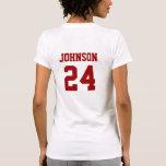 Crimson and White School Spirit Personalized Team T-shirts