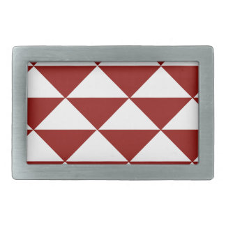 Crimson and White Triangles Belt Buckle