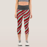 [ Thumbnail: Crimson, Aquamarine, and Maroon Pattern Leggings ]