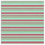 [ Thumbnail: Crimson, Aquamarine & Dark Sea Green Colored Fabric ]