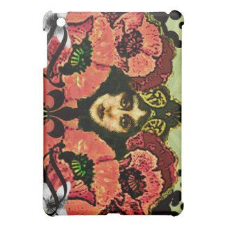 Crimson Art Nouveau Poppy Vixen - Cover For The iPad Mini