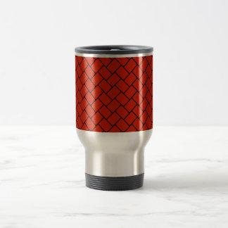 Crimson Basket Weave 2 Travel Mug