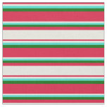 [ Thumbnail: Crimson, Beige, Turquoise, and Dark Green Colored Fabric ]