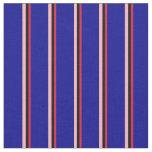 [ Thumbnail: Crimson, Black, Light Pink & Dark Blue Colored Fabric ]