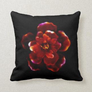 Crimson Bloom Throw Pillow