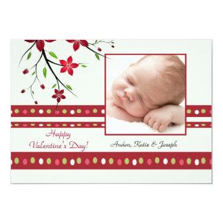 Crimson Blooms Valentine's Day Photo Card