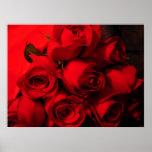 """""""Crimson Bouquet"""" Poster"""
