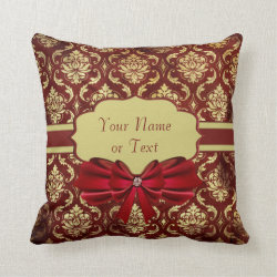 Crimson Brocade Pillow