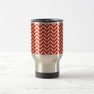 Crimson Chevron 4 Travel Mug