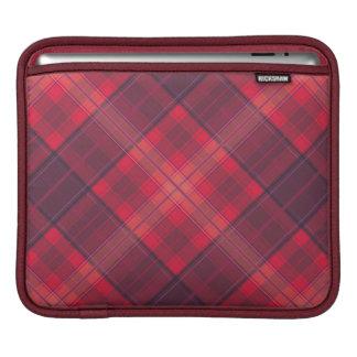 Crimson clover tartan plaid pattern red shade sleeve for iPads