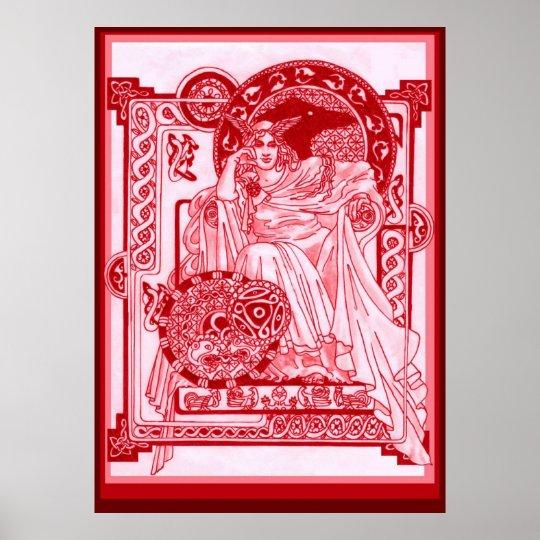 Crimson Corbie Queen Poster