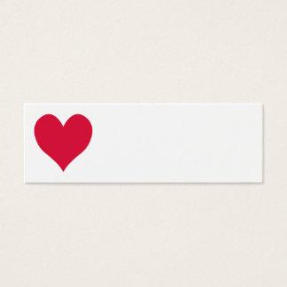 Crimson Cute Heart Mini Business Card