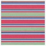 [ Thumbnail: Crimson, Dark Sea Green, Blue, and Light Blue Fabric ]