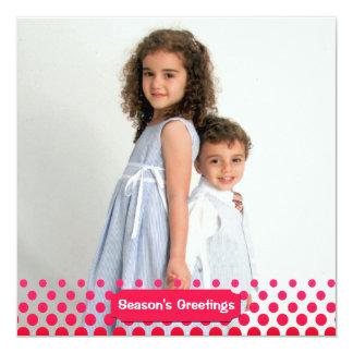 Crimson Dots Photo Holiday Card