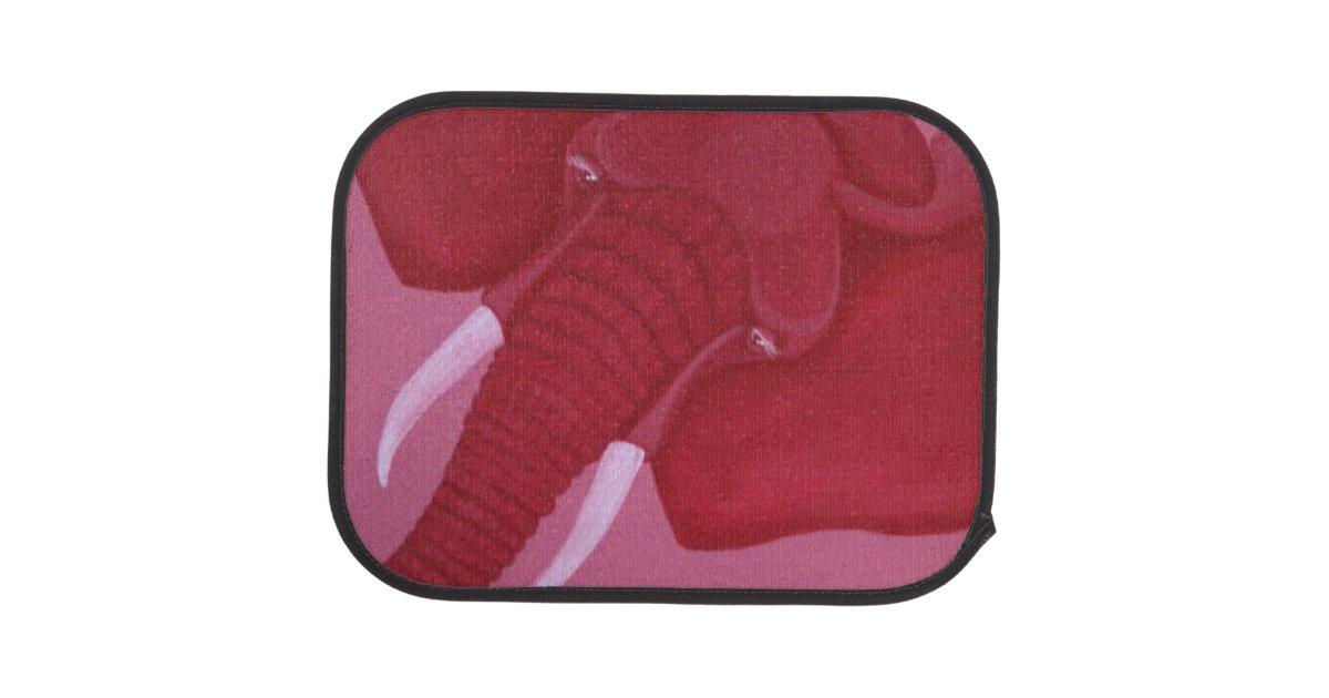 Crimson Elephant Car Mat