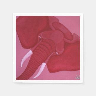 Crimson Elephant Napkins