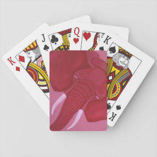 Crimson Elephant Playing Cards
