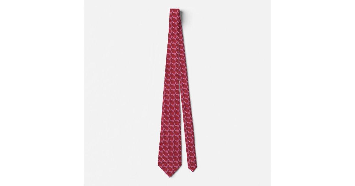Crimson Elephant Tie