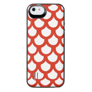 Crimson Fish Scale 1 iPhone SE/5/5s Battery Case