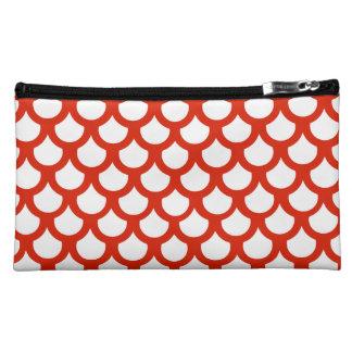 Crimson Fish Scale 1 Makeup Bag