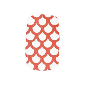 Crimson Fish Scale 1 Minx Nail Wraps