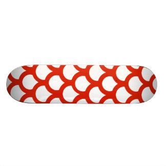 Crimson Fish Scale 1 Skateboard Deck