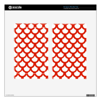 Crimson Fish Scale 1 Skin For Kindle Fire