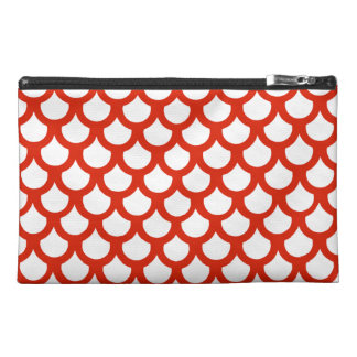 Crimson Fish Scale 1 Travel Accessories Bag