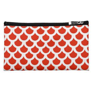 Crimson Fish Scale 2 Cosmetic Bag
