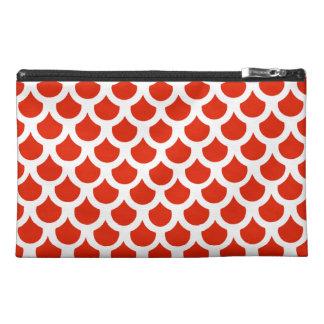 Crimson Fish Scale 2 Travel Accessory Bags
