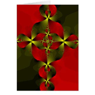 Crimson Foil Cross Greeting Cards